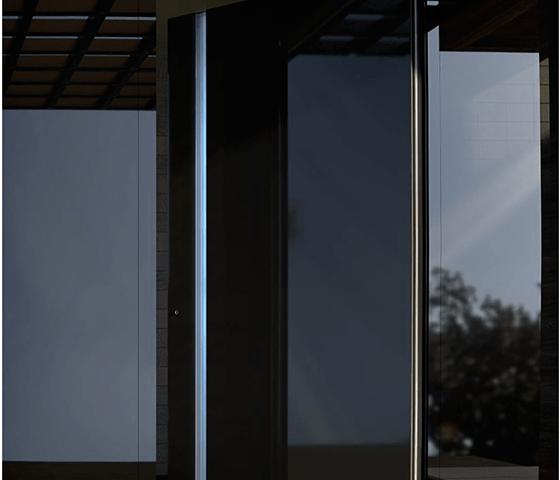 Usa exterior cu Rupere Termica 1020 Black Glass